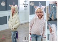 "5036 Knitting Pattern - 20 - 28"" Double Knit (Unicorn Jumper)"