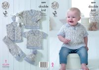 "4899 Knitting Pattern - 14 - 22"" Babies Double Knit"