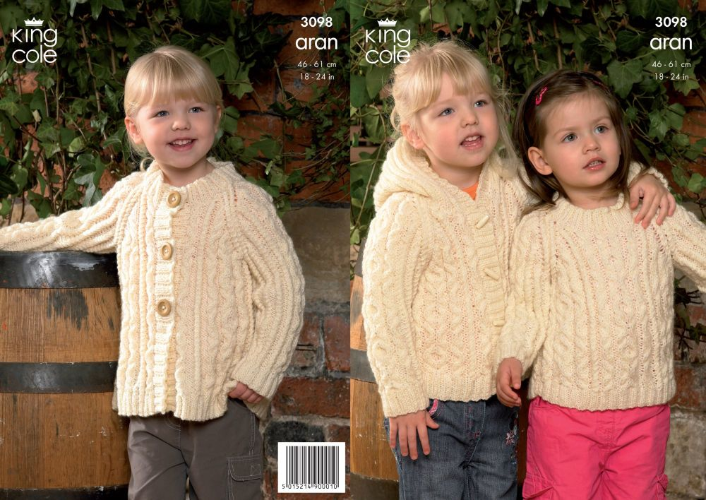 3098  Aran - Children's Knitting Pattern
