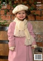 "3099  Aran - Children's Knitting Pattern 18"" - 24"""