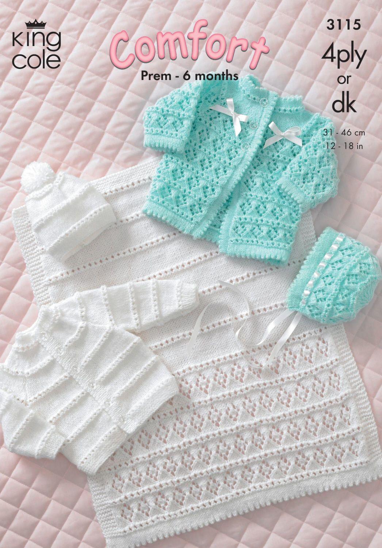 3115 Knitting Pattern - Comfort 4Ply & DK (Babies)