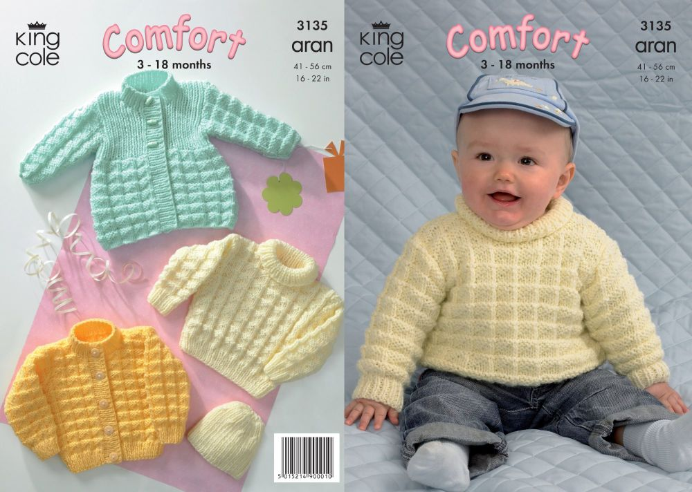 3135 Knitting Pattern - Aran (Baby) 16