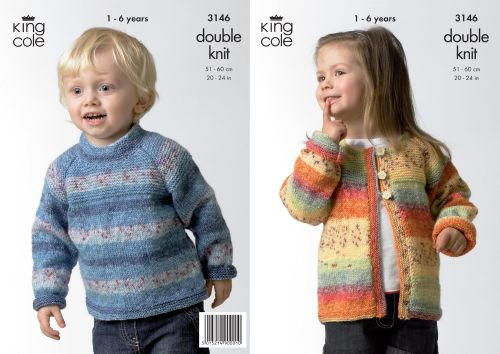 3146 Knitting Pattern - Children's DK Splash