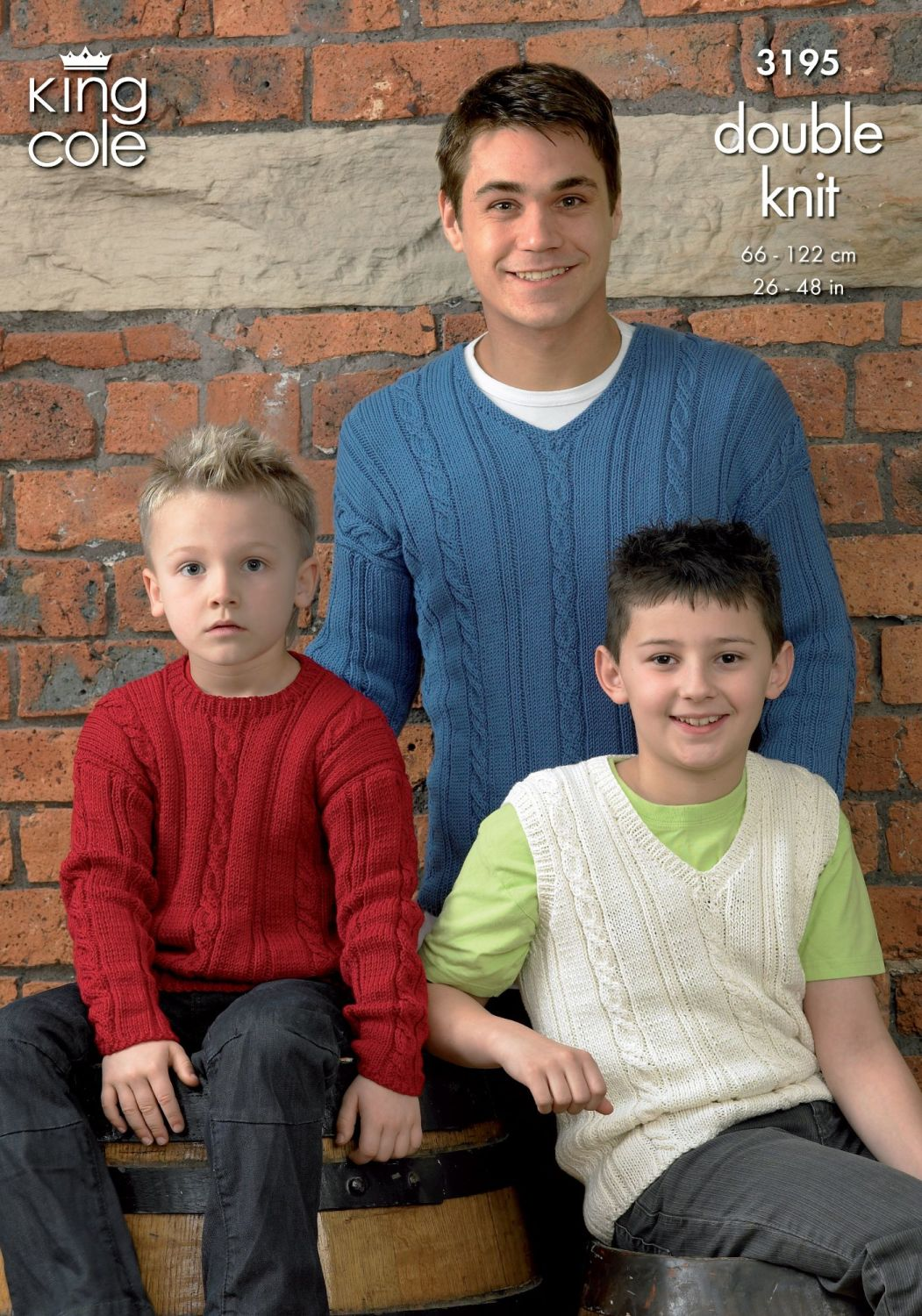 3195 Knitting Pattern - Men's and Boy's Double Knit