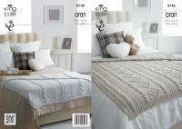 4145 Knitting Pattern - Aran Blanket 130 x 150cm