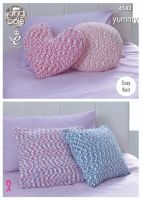 4542 Knitting Pattern - Cushions (Easy Knit)
