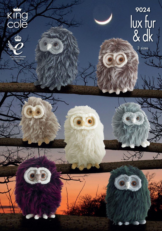 9024 Knitting Pattern - Luxe Fur & DK Owls