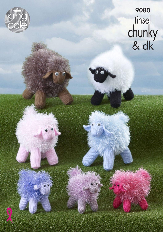 9080 Knitting Pattern - Tinsel Sheep