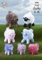 9080 Knitting Pattern - Tinsel Sheep