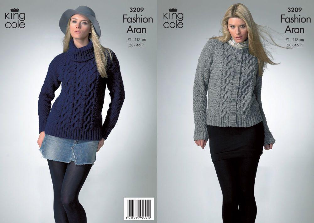 3209 Knitting Pattern - Fashion Aran 28