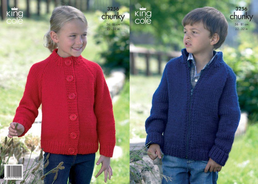 3256 Knitting Pattern - Chunky (Childs)