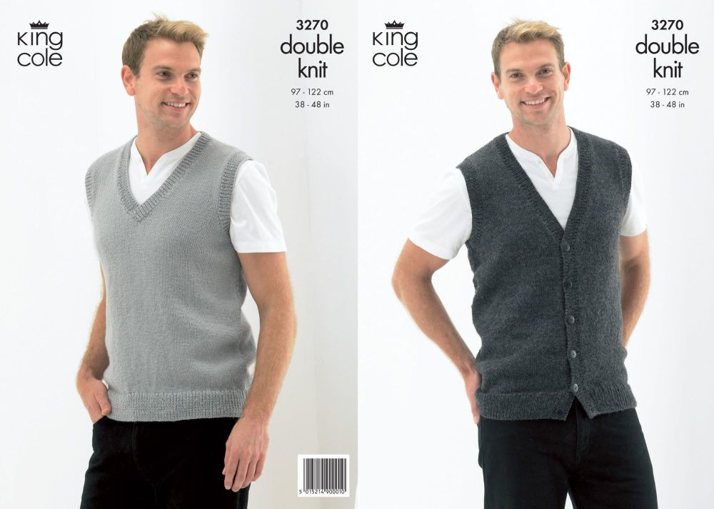 3270 Knitting Pattern - Double Knit (Mens)