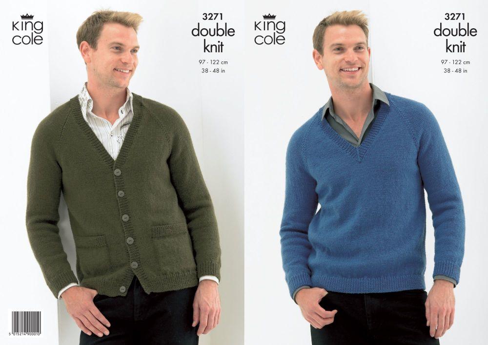 3271 Knitting Pattern - Double Knit (Mens)