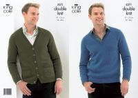 3271 Knitting Pattern - Double Knit (Mens)
