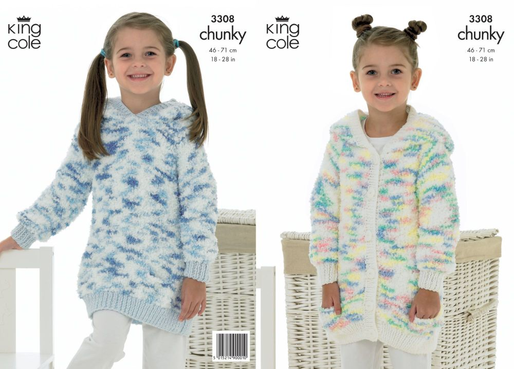 3308 Knitting Pattern - Chunky 18