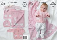3317 Knitting Pattern - Double Knit (Birth- 4 years)