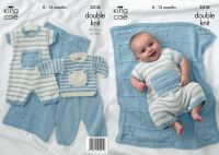 3318 Knitting Pattern - Double Knit (0 - 12 months)
