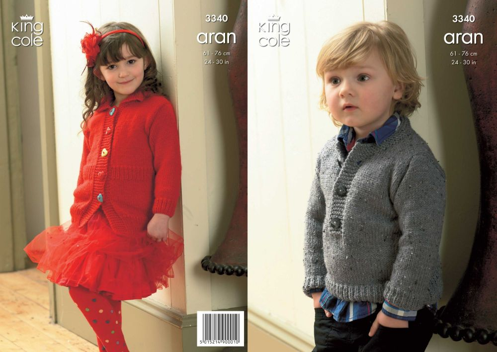3340 Knitting Pattern -Children's Aran 24