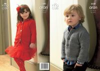 "3340 Knitting Pattern -Children's Aran 24"" - 30"""