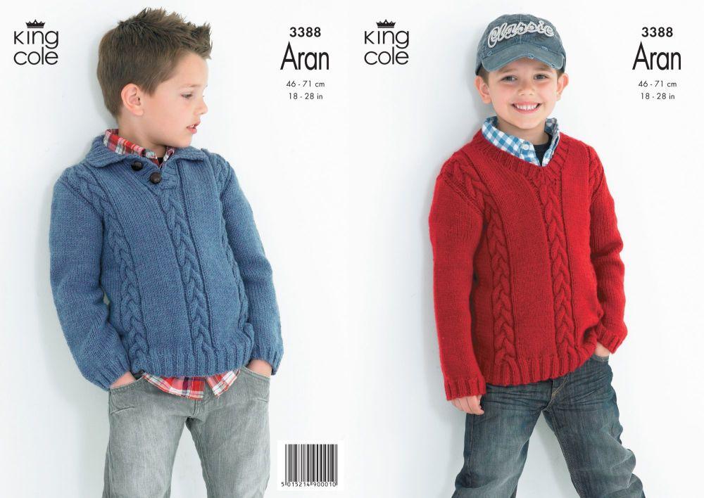 3388 Knitting Pattern Aran - 18