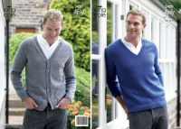 "3420  Knitting Pattern - 4 Ply 38"" - 48"" Mens"
