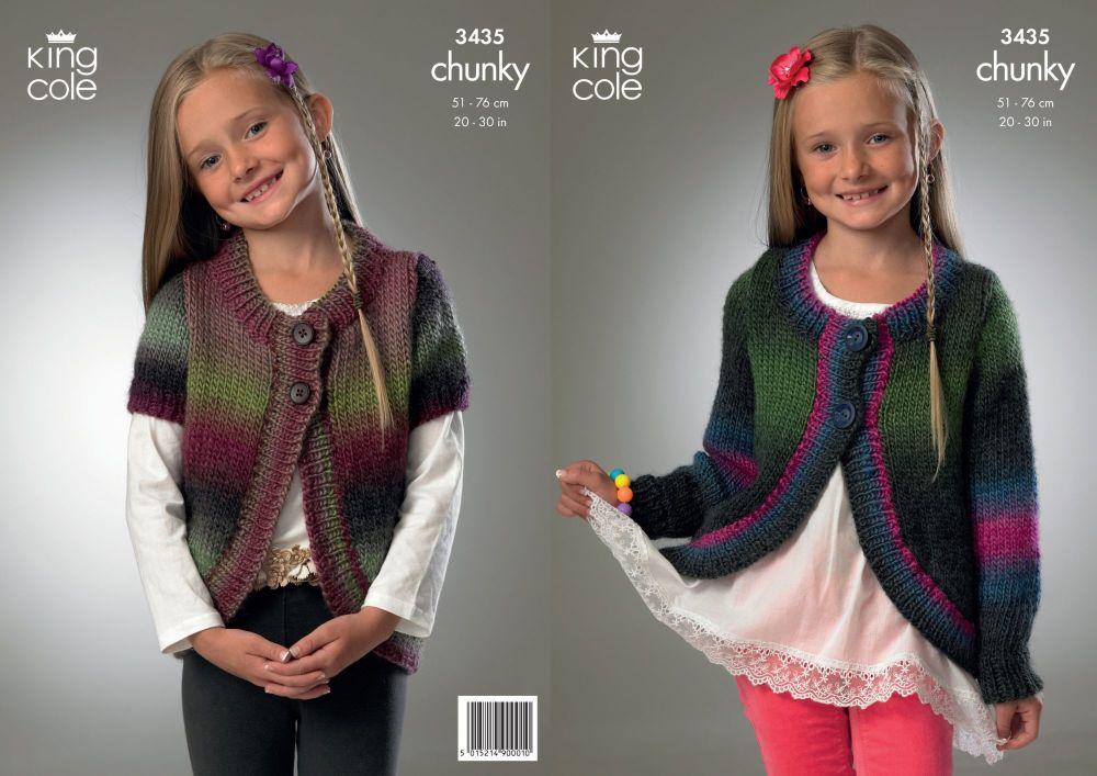 3435 Knitting Pattern - Chunky 20