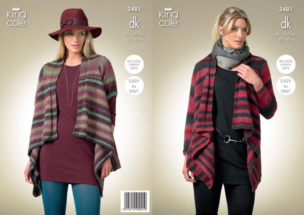 3481 Knitting Pattern - DK Ladies 32