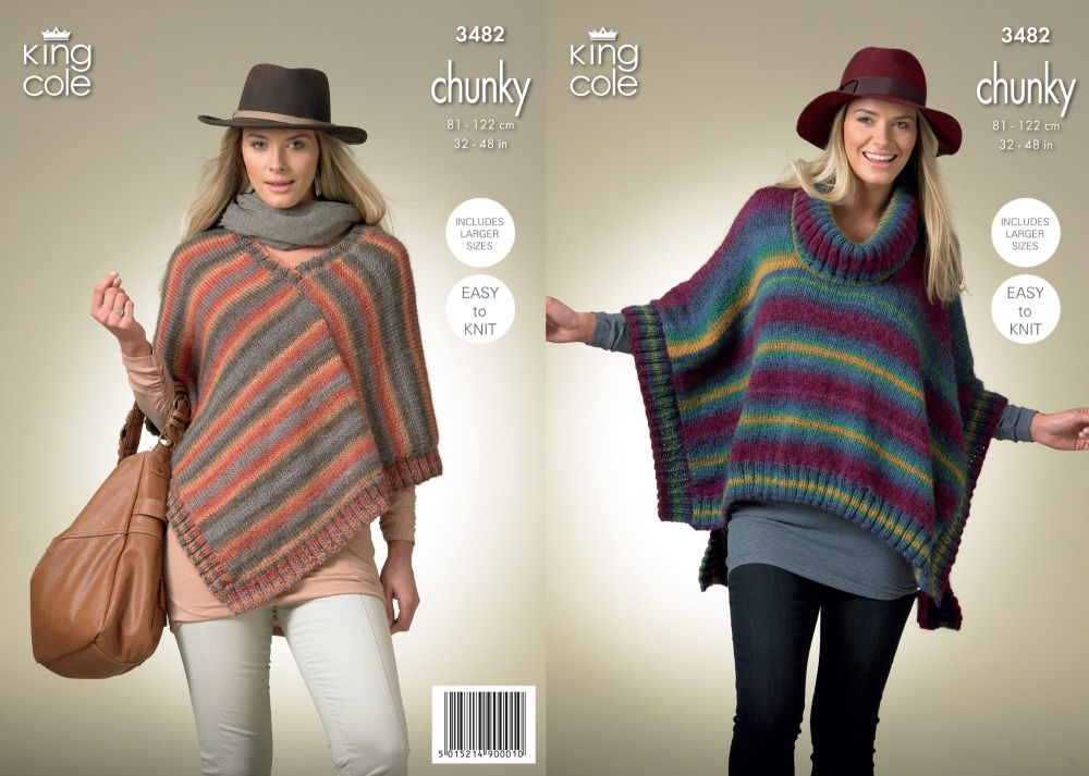 3482 Knitting Pattern - Ladies Chunky 32