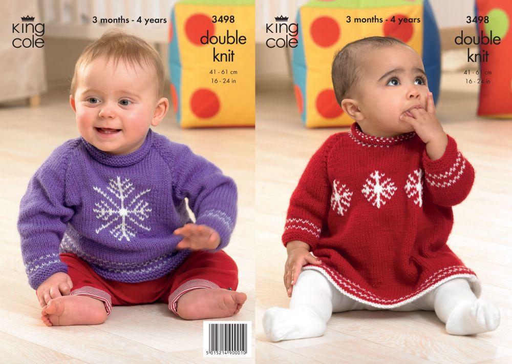 3498 knitting Pattern - Babies DK 16 - 24