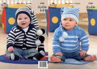 """3500 Knitting Pattern Babies DK - 14"""" - 24"""""""