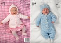 "3504 Knitting Pattern - Aran 12"" - 20"" Babies"