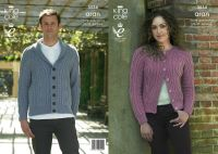 3534 Knitting Pattern Aran - 28/30 - 44/46 ins Mens & Ladies