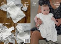 "3536 Knitting Pattern - Babies Christening Set in Double Knit 14"" - 18"""