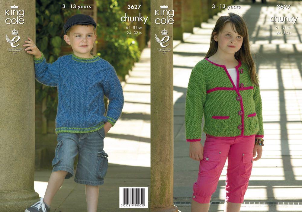 3627 Knitting Pattern Chunky - 24 - 32