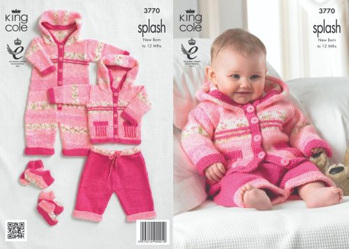 3770 Knitting Pattern - Splash New Born - 12 Months