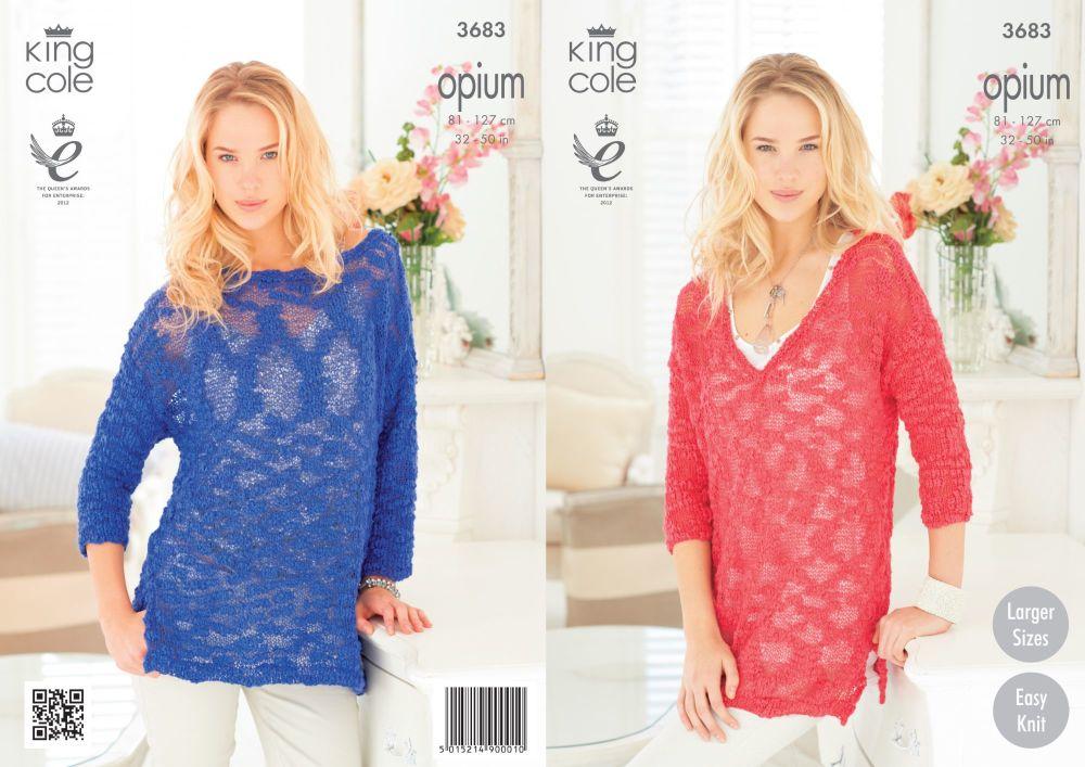 3683 Knitting Pattern Opium - Ladies 32