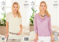 3686 Knitting Pattern Opium - Ladies 32