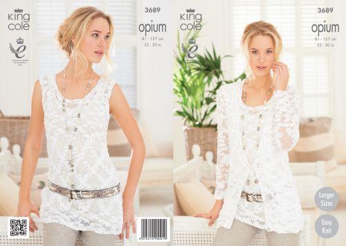 3689 Knitting Pattern Opium - Ladies 32