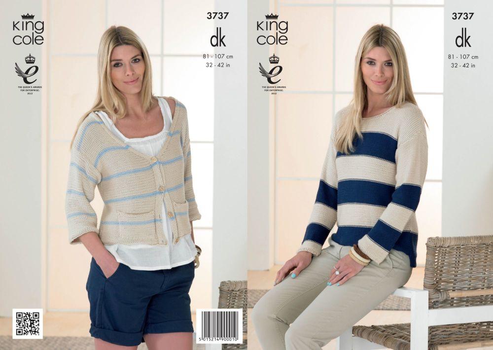 3737 Knittting Pattern DK - 32-42