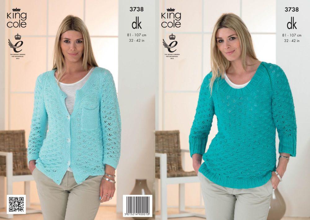 3738 Knittting Pattern DK - 32-42