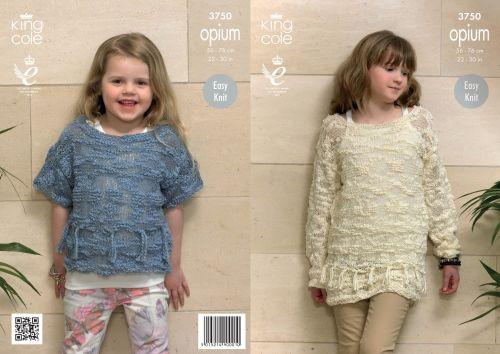 3750 Knitting Pattern Opium - Girls Easy Knit 22 - 30
