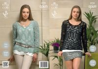 3752 Knitting Pattern Opium - Ladies Easy Knit 32 - 50""