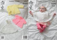 3778 Knitting Pattern DK - Premature - 12 Months