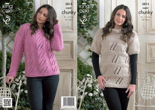 3815 Knitting Pattern Super Chunky - Ladies 32 - 44