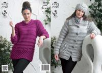 3816 Knitting Pattern Super Chunky - Ladies 32 - 44""