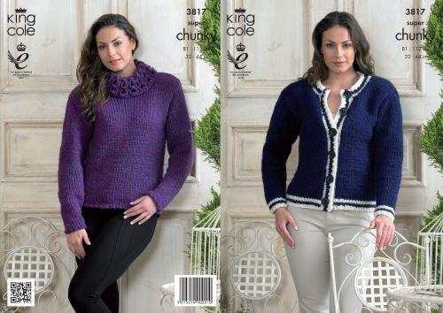 3817 Knitting Pattern Super Chunky - Ladies 32 - 44