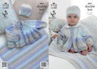 """3841 Knitting Pattern - Babies DK 12 - 20"""""""