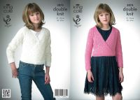 "3874 Knitting Pattern DK - Girls 20"" - 30"""