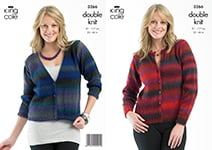3266 Knitting Pattern - Double Knit Adult