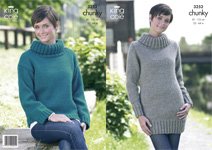 3252 Knitting Pattern - Chunky (Adult)